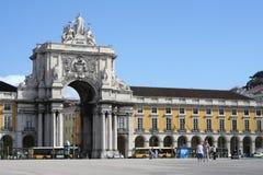 Comercio Square Lisbon Stock Photo
