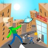 Comercio a través del Internet ilustración del vector