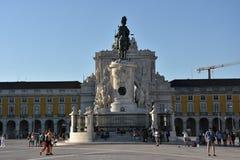 comercioen gör den lisbon portugal pracaen royaltyfria bilder