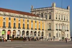 comercioen gör den lisbon portugal pracaen arkivfoto