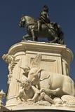 comercioen gör för den konunglisbon portugal för I jose statyn pracaen Arkivbild