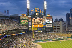 Comerica Park, Detroit. Scoreboard at Comerica Park, home of the Detroit Tigers baseball team Royalty Free Stock Photography