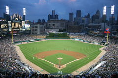 Comerica Park Detroit, Michigan stockfotos
