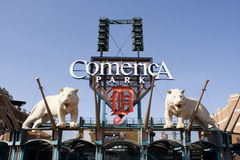 Comerica Park, Detroit. Detroit Tigers Comerica Park in Detroit, Michigan Stock Photography