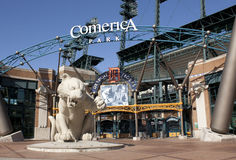 Comerica Park, Detroit. Detroit Tigers Comerica Park in Detroit, Michigan Stock Photo