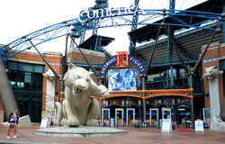 Comerica Park front entrance Royalty Free Stock Photos