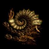 Comes the dragon. Abstract fractal image resembling predatory dragon Royalty Free Stock Image