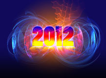 Comes new in 2012. Layout cover the calendar for 2012 Stock Images