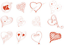 When it comes to love hearts Royalty Free Stock Photography