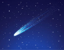 Comet. Space background and the comet Stock Images