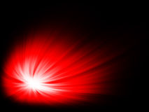 Comet. Bright red comet, in a black space Royalty Free Stock Photos