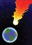 Comet. Vector image comet: in space Royalty Free Stock Photos