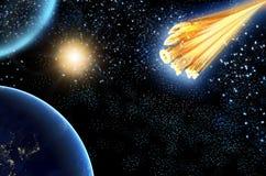 Comet asteroid 2014 Stock Photo