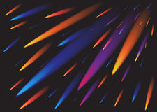 Comet background. Abstract vector colorful comet background stock illustration
