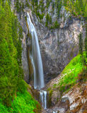 Comet Falls. Is the tallest falls in Mt Rainier NP. It is a steep 1.8 mile trail from trail head. It ia a very popular hike in that area Royalty Free Stock Photos