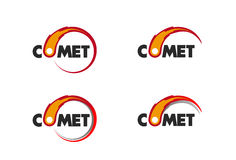 Comet flame burning up for business logo. Set of logos with a comet flame burning icon Stock Photos