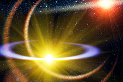 Comet  flying   orbit  sun Royalty Free Stock Photo