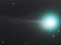 Comet Lovejoy. Imaged with a telescope and a scientific CCD camera stock images