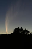 Comet McNaught. The long sweep of the tail of Comet McNaught Royalty Free Stock Photos