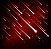 Comet meteor shower background Stock Images