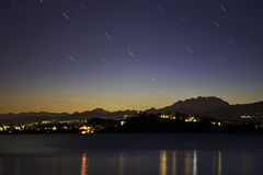 Comet at the evening royalty free stock image