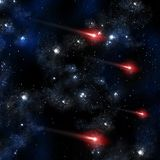 Comet in the space Royalty Free Stock Images