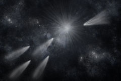 Comet in space. Stock Image