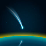 Comet in space vector Royalty Free Stock Photos