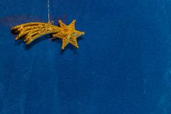 Comet star on blue background Royalty Free Stock Photography