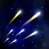 Comet in the starry sky Royalty Free Stock Images