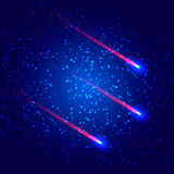 Comet in the starry sky Royalty Free Stock Photos