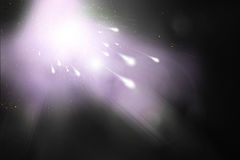 Comet and violet sky Royalty Free Stock Photography