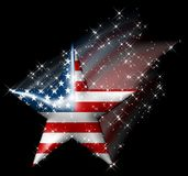 Cometa americana della stella Immagini Stock