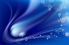 Cometa azul abstracto stock de ilustración