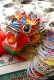 Cometa china hermosa del dragón Imagen de archivo libre de regalías