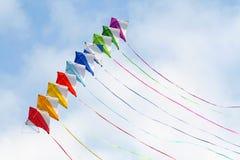 Cometa coloreada, composición feliz Foto de archivo