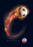 Cometa del balón de fútbol Imagen de archivo libre de regalías