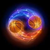 Cometa di pallacanestro Immagine Stock