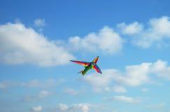Cometa en la forma de un aeroplano Fotografía de archivo libre de regalías