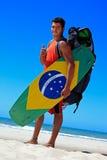 Cometa que practica surf en el Brasil Fotos de archivo