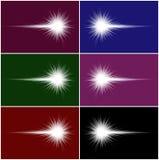 Cometas blancos ilustración del vector