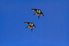 Cometas coloridas Fotografía de archivo