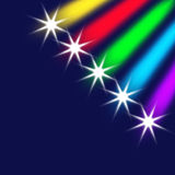 Cometas e estrelas coloridos ilustração royalty free