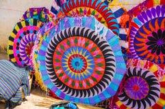 Cometas hechas a mano, Día de Todos los Santos, Guatemala Imagenes de archivo