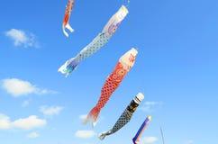 Cometas japonesas de la carpa Foto de archivo libre de regalías