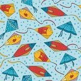 Cometas ornamentales coloridas del fishe Imágenes de archivo libres de regalías
