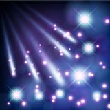Comets light with stars Stock Photo