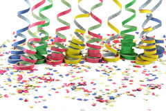 Comfetti and streamers Stock Image