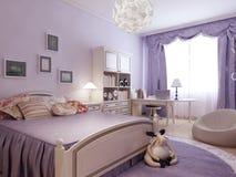 Comfort bedroom for teenager girl Stock Photo