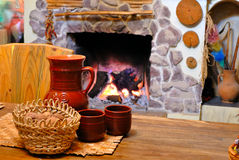 Comfort of home hearth Royalty Free Stock Images